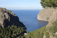 Scenic bay on Majorca Island, Spain Stock Image