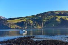 Scenic bays at Akaroa, Banks Peninsula Royalty Free Stock Images