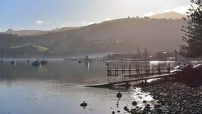 Scenic bays at Akaroa. Banks Peninsula in New Zealand Royalty Free Stock Image