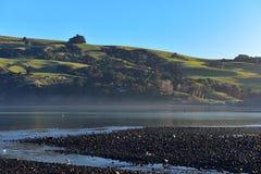 Scenic bays at Akaroa, Banks Peninsula. In New Zealand Royalty Free Stock Image