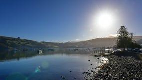 Scenic bays at Akaroa, Banks Peninsula. In New Zealand Stock Photography