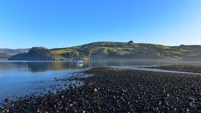 Scenic bays at Akaroa. Banks Peninsula in New Zealand Royalty Free Stock Photo