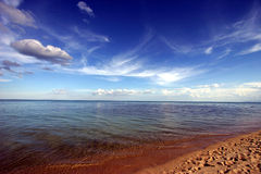 Scenic Beach. With blue sky Stock Photography