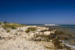 Scenic beach. In Novalja on island Pag, Croatia Royalty Free Stock Images