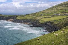 Free Scenic Beach And Rural Landscape At Slea Head, Dingle Peninsula, County Kerry, Ireland Stock Image - 144817571