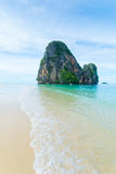 Scenic beach and Andaman sea in Railey Bay, Thailand Stock Photos