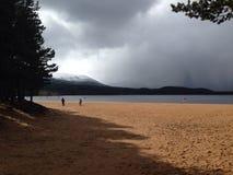 Scenic beach. Beach in Aviemore Royalty Free Stock Image