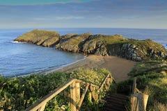Scenic beach in Cantabria, Spain. Scenic beach in Soto de la Marina on the Atlantic coastline of Cantabria, Spain Royalty Free Stock Images