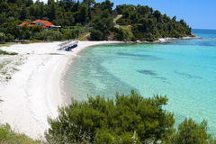 Scenic beach at Chalkidiki in Greece Stock Photos