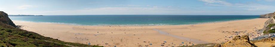 Scenic beach in Cornwall Stock Photography