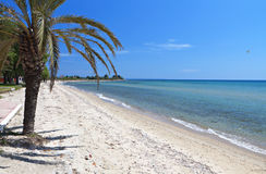 Scenic beach in Greece Royalty Free Stock Photography