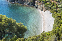 Scenic beach in Greece Stock Images