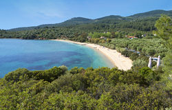 Scenic beach at Halkidiki in Greece Stock Photography
