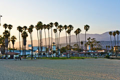Scenic beach and lighthouse in Santa Barbara Stock Photos