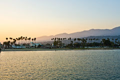 Scenic beach and lighthouse in Santa Barbara Royalty Free Stock Photography