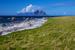 Scenic beach on Lofoten islands Stock Photos