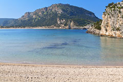 Scenic beach at Pylos of Greece Royalty Free Stock Images