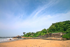 Scenic beach village in India Royalty Free Stock Photos