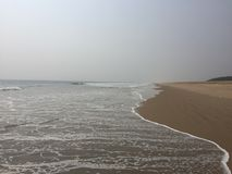 Sea waves on the beaches of Puri-Konark. Scenic beaches of Puri-Konark washed by sea waves Stock Photography