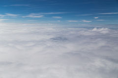 Scenic beautiful cloudscape view from plane window Royalty Free Stock Image
