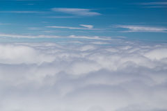 Scenic beautiful cloudscape view from plane window Royalty Free Stock Photography