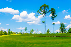 Scenic beautiful golf course grounds. Royalty Free Stock Photos