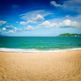 Scenic beautiful view of Nha Trang beach royalty free stock photo