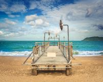 Scenic beautiful view of Nha Trang beach royalty free stock images