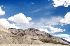 Scenic beauty of Ladakh, mountains of ultra mafic rocks Royalty Free Stock Images