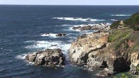 Scenic Big Sur California Coast stock video