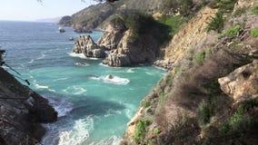 Scenic Big Sur California Coast Landscape stock video