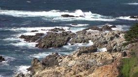Scenic Big Sur California Landscape stock footage