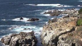 Scenic Big Sur California Zoom In stock video