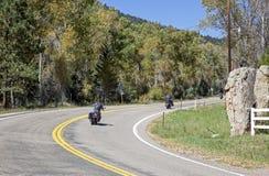 Scenic Bike Ride stock images