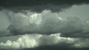 Scenic billowing clouds stock footage