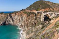 Scenic Bixby Bridge Big Sur California Royalty Free Stock Photo