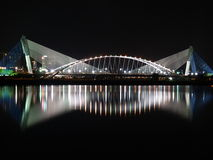 Scenic Bridge. Suspension bridge in Putrajaya, Malaysia stock image