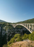 Scenic bridge over Verdon canyon Royalty Free Stock Photos