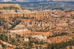 Scenic Bryce Canyon National Park in Winter Stock Images