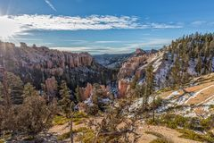 Scenic Bryce Canyon Utah in Winter Royalty Free Stock Image