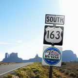 Scenic Byway 163 sign Royalty Free Stock Photography