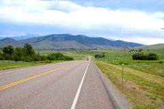 Scenic byway 212 in Montana Royalty Free Stock Photos