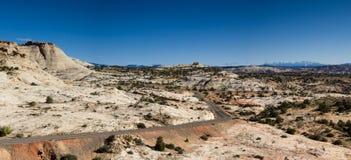 Scenic Byway passing through grandiose scenery. Utah Stock Photography