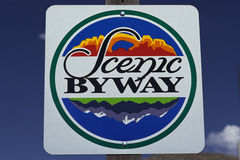 Scenic Byway road sign Stock Photography