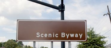 Scenic Byway Route Stock Image