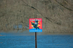 Scenic Byway Sign Stock Photography