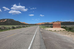 Scenic Byway 12. Sign of Scenic Byway 12 in Red Canyon. Utah. USA Royalty Free Stock Photo