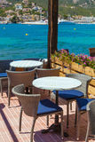 Scenic Cafe Besides Mediterranean Sea Stock Images