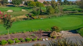 Scenic California Golf Course Stock Photography