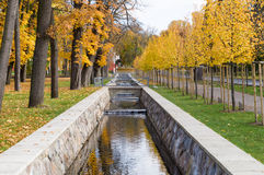 Scenic canal in Kadriorg park on fall time Royalty Free Stock Image